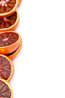 Frame Of Blood Oranges Stock Photo