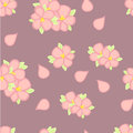 Free Seamless Pattern. Blossoming Cherry Royalty Free Stock Image - 29896146
