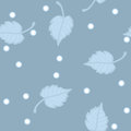 Free Seamless Vector Pattern. Birch Leaves In Hoarfrost Stock Image - 29897811