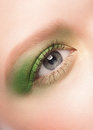 Free Woman Eye With Green Makeup Royalty Free Stock Photo - 29897985