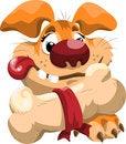 Free Fat Cartoon Dog With A Bone Royalty Free Stock Photos - 29898128