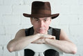 Free Attractive Man In Brown Hat Royalty Free Stock Photography - 29899457