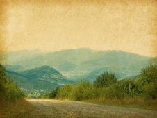 Country Road In The Mountains. Royalty Free Stock Image