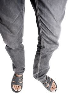 Free Man Wearing Sandals Royalty Free Stock Photography - 29892527