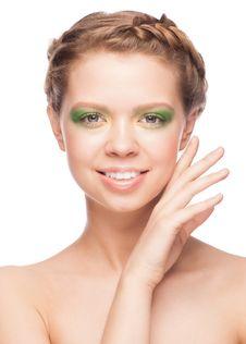 Free Woman With Beautiful Makeup Stock Image - 29897891