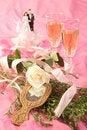 Free Wedding Cake Dolls, Rose Royalty Free Stock Images - 2990199