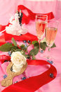 Free Wedding Cake Dolls, Rose Royalty Free Stock Photos - 2990318
