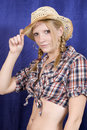 Free Blond Cowgirl Stock Image - 2991811