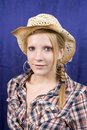 Free Blond Girl In Straw Hat Royalty Free Stock Image - 2991816
