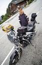 Free Admiring Motorbike. Royalty Free Stock Images - 2993929