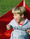 Free Boy Playing With Kite Stock Images - 2997054