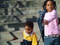 Free Kids Running Down Steps Royalty Free Stock Photo - 2998345
