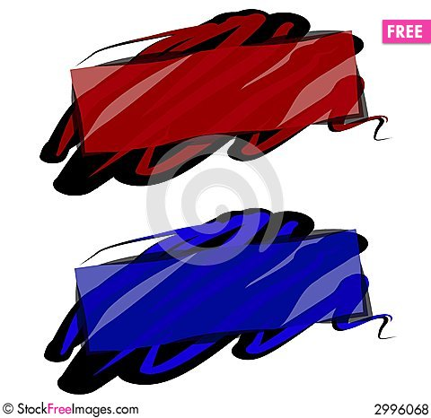 Free Paint Swirl Web Page Logos Royalty Free Stock Photos - 2996068