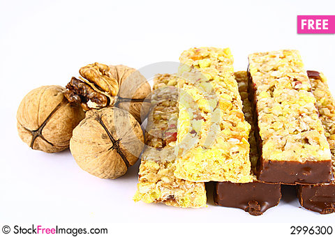 Free Muesli Stick On White Backgrou Stock Photo - 2996300