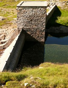 Dam And Water Reflection 2 Stock Photos