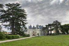 Castle Chaumont-sur-Loire Stock Image