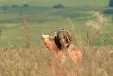 Free Girl On A Meadow Royalty Free Stock Images - 2992179