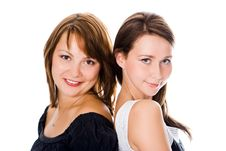 Beauty Couple Woman Portrait Royalty Free Stock Image
