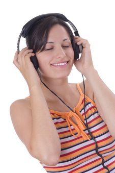 Free Girl Listening Music Royalty Free Stock Photography - 2993747