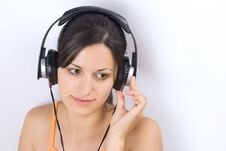 Free Girl Listening Music Stock Photo - 2993760