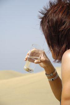 Free Woman Drinking Water Stock Photos - 2993783
