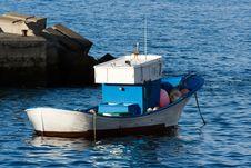 Moored Fishing Boat Stock Image