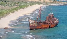 Rusty Ship Wreck Stock Photography