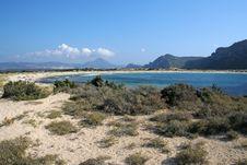 Voidokilia Beach Remote View Stock Image