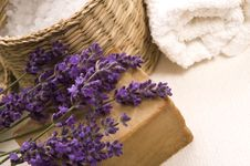 Free Lavender Bath Items Royalty Free Stock Photos - 2994208