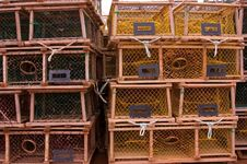 Free Lobster Traps Royalty Free Stock Image - 2994266