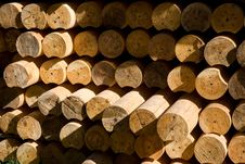 Free Stacked Wood Beams Stock Photography - 2994472
