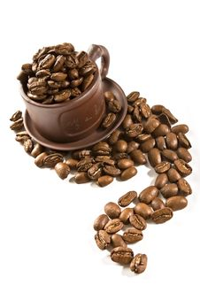 Free Coffee Grains In Brown Cup Royalty Free Stock Photography - 2994587