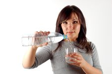 Free Woman Drinking Water 6 Royalty Free Stock Photo - 2994665