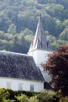 Free Norwegian Church On Hill. Stock Photo - 2995130