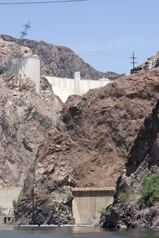Free Hoover Dam From The River Stock Image - 2995861