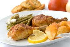 Free Chicken Legs With Asparagus Stock Photos - 2996223