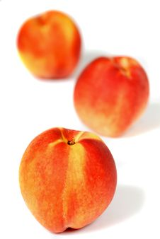 Free Three Peaches, Shallow DOF Stock Photo - 2996320
