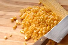 Free Freshly Cut Kernels Of Corn Royalty Free Stock Photography - 2996467