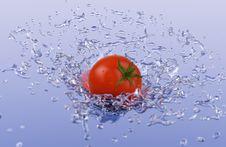 Free Tomato Splash Royalty Free Stock Photo - 2997765
