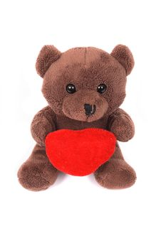 Free Toy Bear And The Heart Royalty Free Stock Photo - 2998655