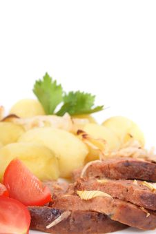Free Meat And Potatoes Royalty Free Stock Photos - 2998738