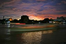 Free Bangkok River At Sunset Royalty Free Stock Photo - 2998835