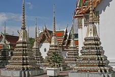 Grand Palace Chedis Stock Image