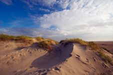 Sand Dunes And Ocean Royalty Free Stock Photography
