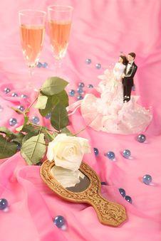 Free Wedding Cake Dolls, Rose Stock Photos - 2999573