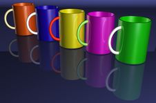Free Colorful Cups Royalty Free Stock Photography - 2999987