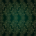 Free Floral Vintage Seamless Pattern On Green Background Stock Photography - 29909572