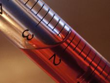 Free Pen-syringe With Red Liquid Inside Closeup Stock Photos - 29902223