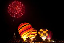 Free Fireworks In Work ,Internationa L Balloon Festival Royalty Free Stock Image - 29905636
