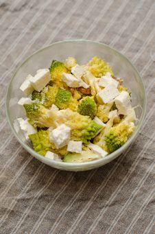 Romanesco And Cheese Salad Stock Photos